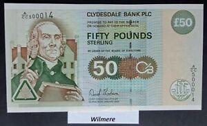 Clydesdale Bank £50 (P225c) 2006 A/CC prefix LOW #  *UNC*