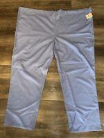 Scrub Pants ~ NWT Pull On Blue Unisex Polyester Cotton OPP Drawstring ~ 3XL
