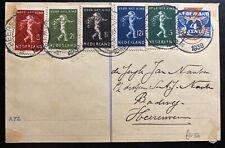 1939 Heerenveen Netherlands Stationery postcard Cover Sc #B118-22