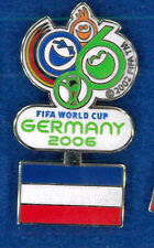 Germany 2006 World Cup soccer pin - Serbia Montenegro flag FIFA football badge