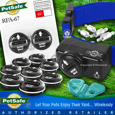 PetSafe PIF-275-19 Wireless Fence Dog Collar Receiver 11 Batteries Blue Strap