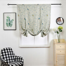 Retro Painting Floral Twigs Birds Sparrows Window Curtain Blockout Drapes Fabric