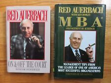 RED AUERBACH 1985 ON & OFF THE COURT and MBA MANAGEMENT Books BOSTON CELTICS