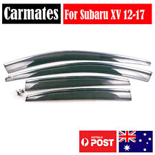 NEW Weather Shield Visor For Subaru XV 12-17 4 Doors double sided tape Clips