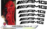 Mercedes AMG Brake Calliper Decal High Temp Vinyl Stickers C63 Any Colour x6