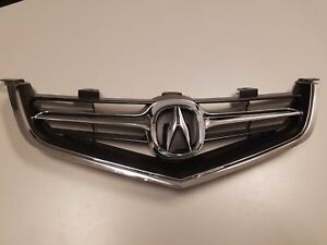 Fits  ACURA TSX 2004 2005 GRILLE GRILL w/ CHROME MOLDING w/ OEM EMBLEM