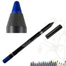 MAKKI BLUE GLIDE WATERPROOF EYELINER PENCIL SUPER LONG STAY SMOOTH EYE LINER