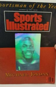"""Sports Illustrated """"Sportsman of the Year"""" 1991 Michael Jordan Hologram Cover"""