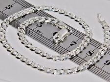 925 Sterling Silver Ladies Solid Curb Anklet / Ankle Bracelet - 10 inch