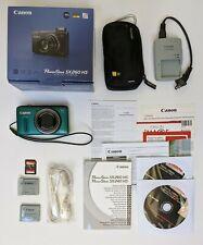 Green Canon PowerShot SX260 HS 12.1 MP Digital Camera + Accessories Bundle