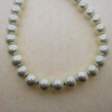 50 Cream Color 8mm Round Magnetic Beads - 1 Strand