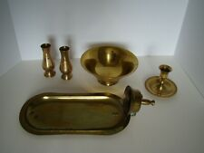 Lot Of 5 Brass Home Decor Items