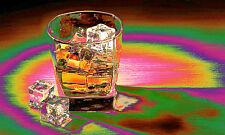 POSTER BILD BILDER XXL POP ART ABSTRAKT WHISKEY GLAS POKER EIS TISCH BIS 150x90