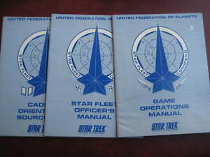 STAR TREK 3 BOOKS-ROLEPLAYING-UNITED FEDERATION OF PLANETS BY FASA CORP-VGC.VIEW