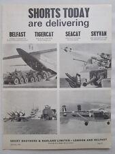 9/1966 PUB SHORT BELFAST RAF TRANSPORT ALVIS TIGERCAT SEACAT MISSILES SKYVAN AD