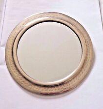 HAND Crafted * Marocchino Picchiato Metallo Color Argento Specchio Rotondo *