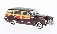 NEO 1:43 1947 Buick Roadmaster 79 Estate Wagon, dark red