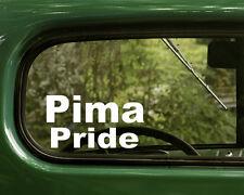 2 PIMA PRIDE STICKERs Native American Decal for Truck Car Laptop Window Bumper
