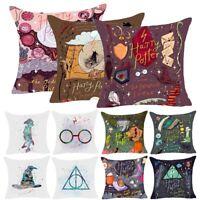 Cartoon Harry Potter Polyester Cushion Cover Sofa Throw Pillow Case Home Decor