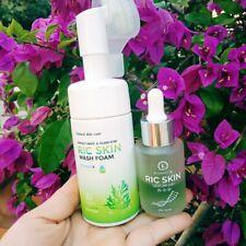 Combo Ric Wash Foam & Ric Skin Serum HA+ Helps Nourish of Skin,Moisture Balance