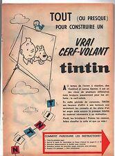 Document TINTIN. Tout pour construire un vrai cerf-volant Tintin. Début 60