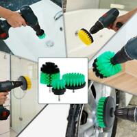 3PCS/SET Tile Grout Drill Brush Power Scrub Cleaning Tub Cleaner Attachment Kit