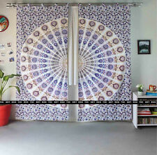 Indian Mandala Curtains Indian Tie Dye Tapestry Hippie Door Valances Window Set