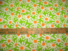 BRIGHT STYLIZED FLORAL PRINT COTTON ORGANDY FABRIC 3 YDS