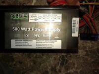Alimentatore ATX XION 500w PC CASE ATX 24 PIN VENTOLA 12 CM
