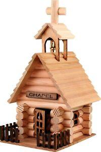 Canadian Made Miniature Chapel - Authentic saddle notch log construction