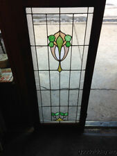 "Antique Chicago Stained Leaded Glass Cabinet Door / Window 48"" by 20"""