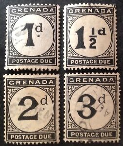 Grenada 1921 Set Of 4 x postage Due stamps vfu