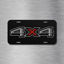4X4 Vehicle License Plate Auto Car Offroad Diesel USA Truck Simulated carbon NEW