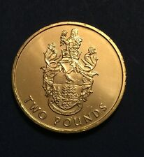 2002 Ascension & St Helena £2 Two Pounds Coin Coat of Arms Rare UNC