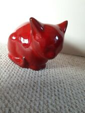 More details for vintage 1960s cat red moneybox ernistine italy art pottery 8