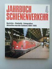 Jahrbuch Schienenverkehr 4 Berichte Statistik Fotografien Aktuelles Schiene 1985