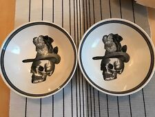 Royal Stafford Halloween Style Skull Bowls Set Of 2 Brand New