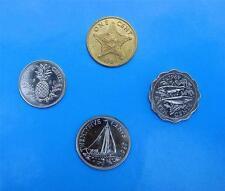 BAHAMAS KMS 1969 ⭐ 4 VERSCHIEDENE WERTE ⭐ COIN SET BAHAMA ISLANDS 1969 ⭐