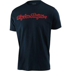 Troy Lee Designs T-Shirt Tee TLD Mx Bmx Mtb Dh Gear Signature Navy