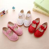 Fashion Baby Girls Flats Toddler Princess Shoes Hollow Sandals for Children Kids