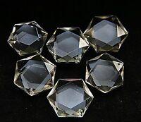 1 Pcs Hexagon Pendant - Natural White Quartz Crystal 3D Hexagon / Star of David