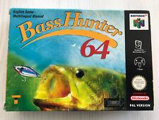 BASS HUNTER 64 NINTENDO 64 N64 PAL MULTI CIB