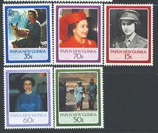 PAPUA NEW GUINEA 640-44 SG520-24 MNH 1986 QEII 60th Birthday set of 5 Cat$5