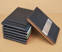 Leather Mens Wallets Slim Bifold Money ID Credit Card Holder Clip Fashion Gift
