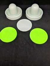 Air Hockey Mallets / pushers (Dynamo) with 3 Large Pucks standard / quiet
