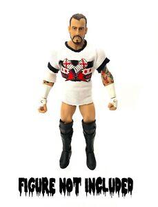 AEW CM Punk 'Best In The World' Custom Shirt For WWE Mattel & Jazwares Figures.