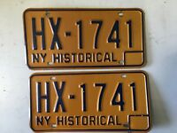 1970's  New York Historical  License Plate  - HX1741