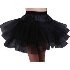 Women Adult White/Black Dancewear Tutu Ballet Pettiskirt Princess Party Skirt US