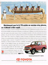 PUBLICITE ADVERTISING 015  1995  TOYOTA  LAND-CRUISER LJ 70