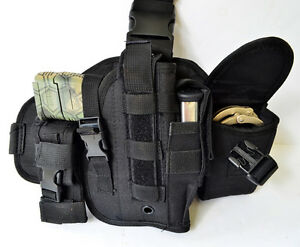 Drop Leg Thigh Pistol Gun Holster - Springfield Baretta - Adjustible - Free Ship